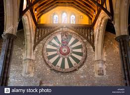 the round table of king arthur in the great hall winchester