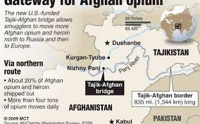 Tajikistan Map U S Built Bridge Is Windfall U2014 For Illegal Afghan Drug Trade