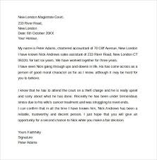sample character reference letter for court best business template