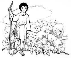 david the shepherd boy coloring pages printable