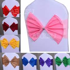 paper chair covers 50 pcs lot wedding chair sash tie bow acrylic chair cover band