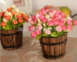 Aliexpresscom  Buy  Set Wooden Barrel Flowers Rose And Daisy - Flowers home decoration