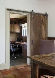 sliding barn door hardware spaces rustic with barn doors bookcase