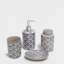 gray patterned ceramic bathroom set my home pinterest grey