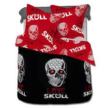 love skull 100 cotton bed linen set duvet cover u0026 pillow cases