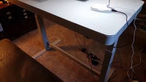 tresanti sit stand desk costco costco adjustable height desk review youtube