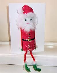 shelf sitting diy christmas card santa father christmas kids