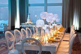 Ball Table Decorations Dining Room Wedding Silver Candle Holder Table Centerpiecescrystal