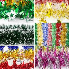 aliexpress com buy 2 meter length garlands tinsel christmas
