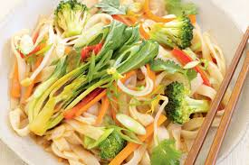 Vegetables by Asian Ginger Vegetables And Rice Noodles