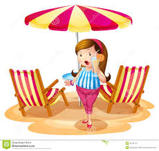 Clip On Umbrellas For Beach Chairs A Fat Holding A Juice Near The Beach Umbrella With Chairs