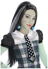 Monster High Halloween Costumes Girls Frankie Stein Wig