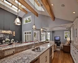 vaulted ceiling kitchen ideas gray glisten classic chrome