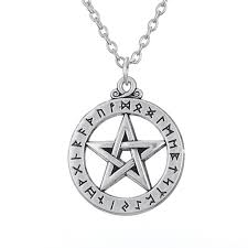 religious necklaces alloy religious necklaces series antique silver plated large rune