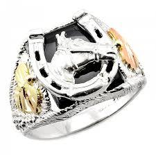 mens sterling rings images Black hills gold on men s sterling silver horseshoe ring with jpg