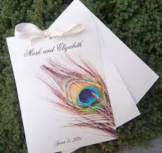 peacock wedding programs programs the detail
