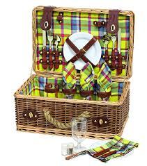 Picnic Basket Set Avanti Picnic Basket Set 4 Person On Sale