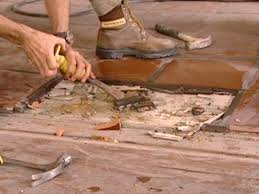 Hardwood Floor Removal How To Install A Tile Floor Transition How Tos Diy