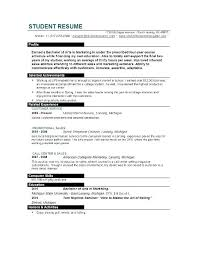 college student resume sles for summer jobs resume exle resumes for college students