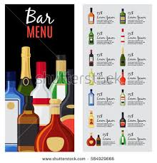 bar counter stools before it alcohol stock vector 584929678