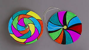 how to make paper spinners easy paper crafts for kids youtube