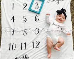 baby month blanket etsy