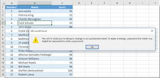 how to make cell as read only in excel