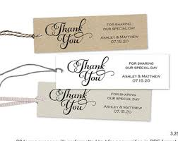 Thank You Tags Wedding Favors Templates by Wedding Favor Tag Etsy