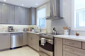 white kitchen cabinets with white and grey countertops 15 grey kitchens that prove this colour has staying power
