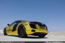 Audi R8 Gold - tyga u0027s bling r8 quattroworld