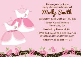 baby shower invites for girl girl baby shower invitations candles and favors