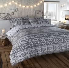 noel duvet quilt cover reindeer christmas xmas tree bedding bed
