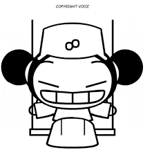 pucca coloring pages 12 free printables cartoon characters