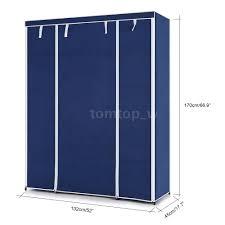 single double closet clothes wardrobe cabinet non woven