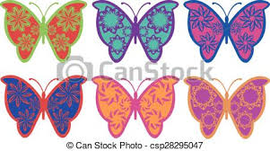 colorful fancy butterfly vector design set of colorful eps