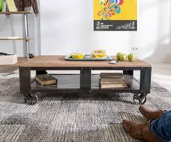 Wohnzimmertisch Auf Rechnung Couchtisch Nijaz 120x60 Cm Mango Eisen Mit Rollen Möbel Tische