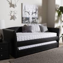 Black Daybed With Trundle Baxton Studio Alena Modern And Contemporary Light Beige Fabric