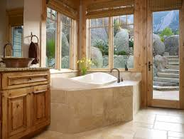 Bathroom Window Trim Travertine Tile Bathroom Bathroom Traditional With Built In Tub