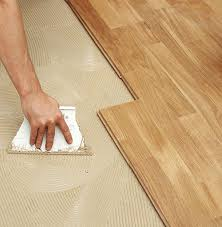 glue installation bamboo hardwood floor concrete