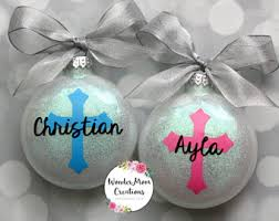 baptism ornament favors christmas baptism etsy
