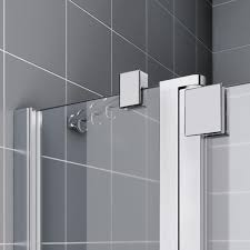 kermi raya d shaped shower enclosure hinged doors with fixed