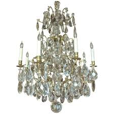 Italian Style Chandeliers Rococo Style Swedish Crystal Chandelier With 16 Lights Circa 1910