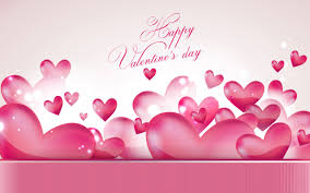 lots of pink lovely hearts happy valentines day