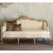One Of A Kind Home Decor Eloquence One Of A Kind Vintage Settee Distressed Gilt U0026 White