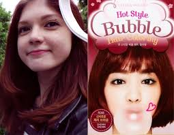 brown cherry hair color lucid doll coloring my hair with etude house bubble hair dye