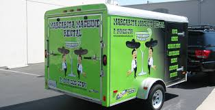 margarita machine rentals margarita machine rental trailer wrap image