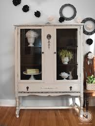 distressed furniture which paint distressing technique is right gf chalk style china cabinet review