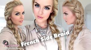 how to i french plait my own side hair how to big french side braid youtube
