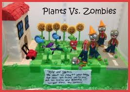Plants Vs Zombies Cake Decorations Plants Vs Zombies Cake Cakes Games Toys Pinterest Plants