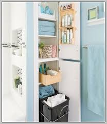 Bathroom Cabinet With Hamper Tall Linen Cabinet With Hamper Home Design Ideas